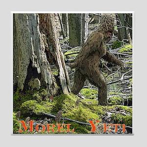 Morel Yeti Big foot gifts Tile Coaster
