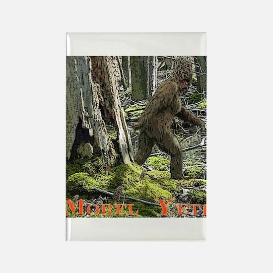 Morel Yeti Big foot gifts Rectangle Magnet