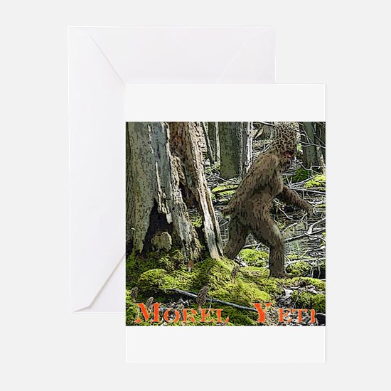 Morel Yeti Big foot gifts Greeting Cards (Package