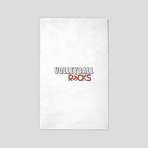 Volleyball Rocks 3'x5' Area Rug
