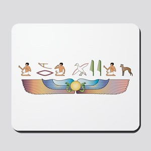 Greyhound Hieroglyphs Mousepad