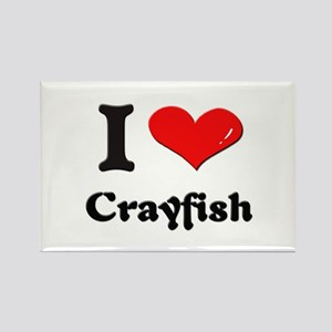 I love crayfish Rectangle Magnet