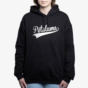 Petaluma, Retro, Women's Hooded Sweatshirt