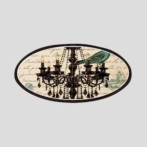 vintage paris chandelier lace bird scripts fashion