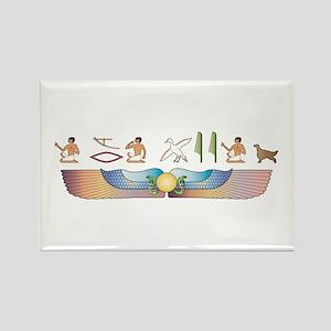 Setter Hieroglyphs Rectangle Magnet