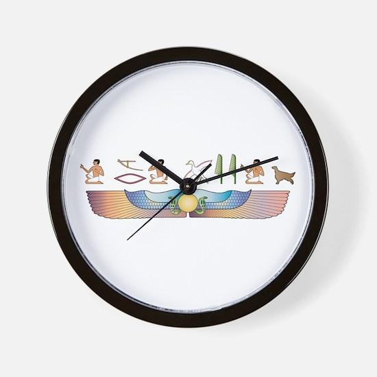 Setter Hieroglyphs Wall Clock