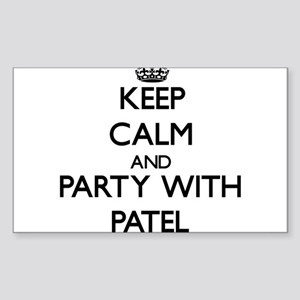 Keep calm and Party with Patel Sticker