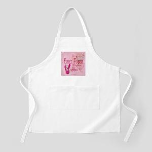 paris eiffel tower pink corset Apron