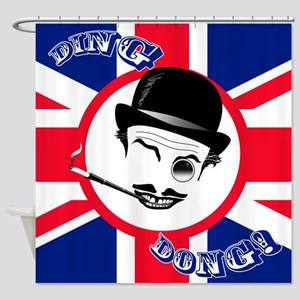 "Film Cad's Union Jack ""Ding Dong!"" Shower Curtain"