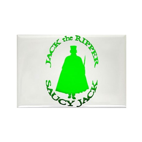 Saucy Jack Green Rectangle Magnet