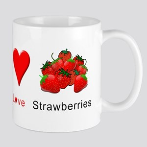Peace Love Strawberries Mug