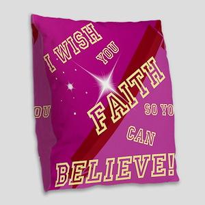 FAITH Burlap Throw Pillow