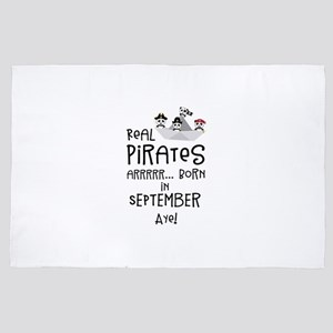 Real Pirates are born in SEPTEMBER 4' x 6' Rug