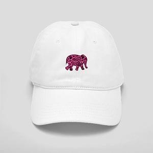 Pink Paisley Elephant Cap