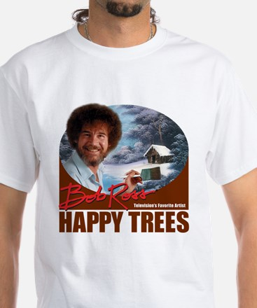 Bob Ross White T-Shirt
