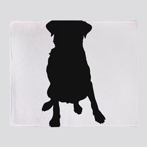 Dog Bone and Paw Throw Blanket
