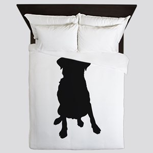 Dog Bone and Paw Queen Duvet