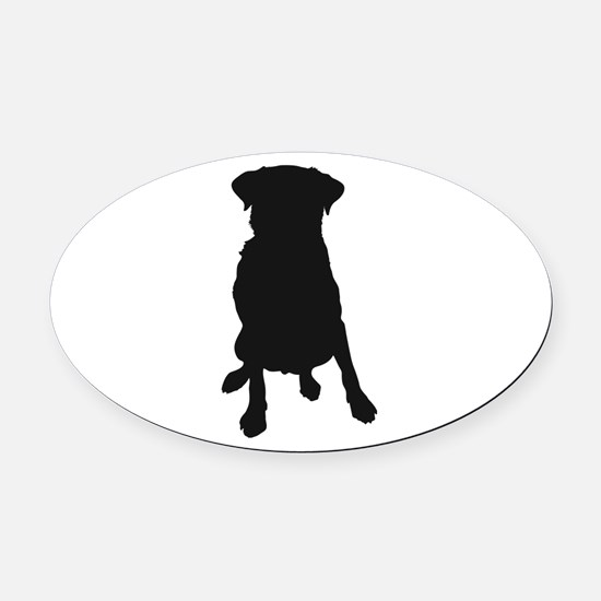 Dog Bone and Paw Oval Car Magnet