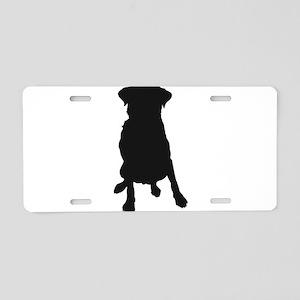 Dog Bone and Paw Aluminum License Plate