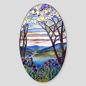 Tiffany Frank Memorial Window Sticker (oval)