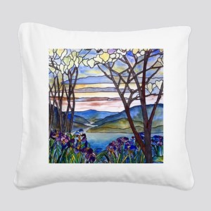 Tiffany Frank Memorial Window Square Canvas Pillow