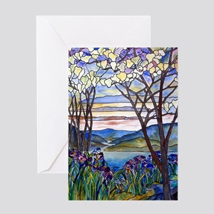 Tiffany Frank Memorial Window Greeting Card