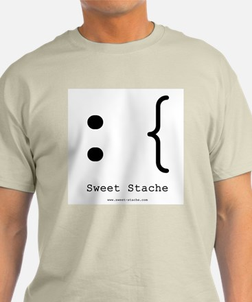 Sweet-Stache Logo Tee (Grey, Blue, or Natural)