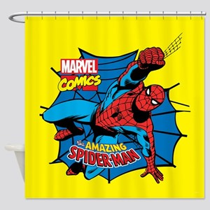 The Amazing Spiderman Shower Curtain
