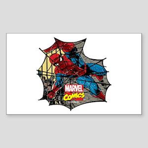 Spider Web 2 Sticker (Rectangle)