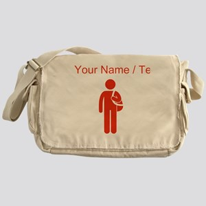 Custom Red Student Messenger Bag