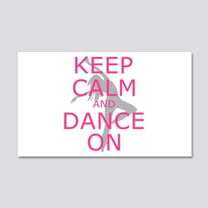 Modern Keep Calm and Dance On Wall Decal