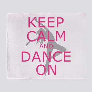 Modern Keep Calm and Dance On Throw Blanket