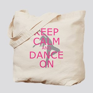Modern Keep Calm and Dance On Tote Bag