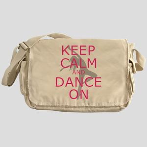 Modern Keep Calm and Dance On Messenger Bag