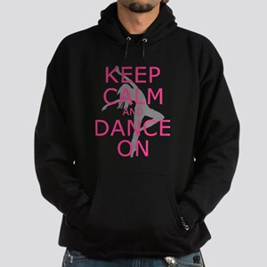 Modern Keep Calm and Dance On Hoodie