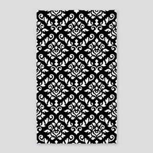 Baroque Damask Bw Pattern 3'x5' Area Rug