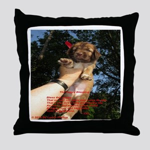 The Puppy Blessing Throw Pillow