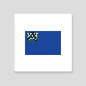 "Flag of Nevada Square Sticker 3"" x 3"""