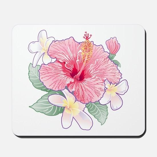 Hibiscus And Plumeria Mousepad
