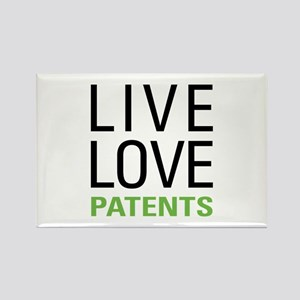 Live Love Patents Rectangle Magnet