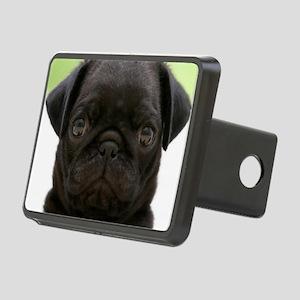 Black Pug Rectangular Hitch Cover