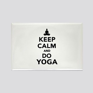 Keep calm and do Yoga Rectangle Magnet