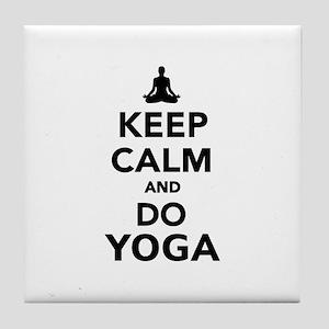 Keep calm and do Yoga Tile Coaster