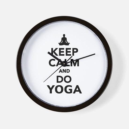 Keep calm and do Yoga Wall Clock