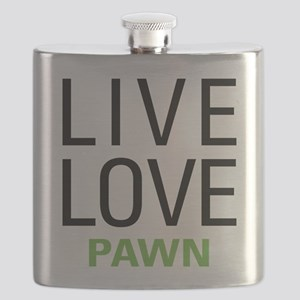 Live Love Pawn Flask