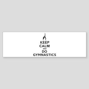 Keep calm and do Gymnastics Sticker (Bumper)