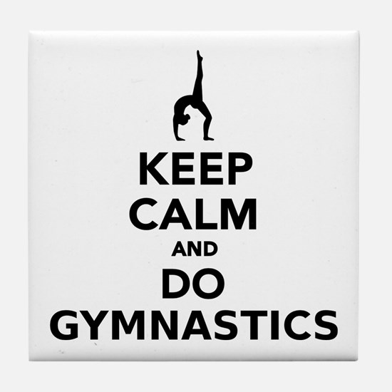 Keep calm and do Gymnastics Tile Coaster