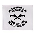 When Guns Are Outlawed Throw Blanket