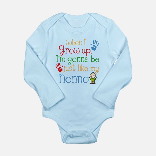 Just Like Nonno Long Sleeve Infant Bodysuit