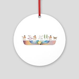 Setter Hieroglyphs Ornament (Round)